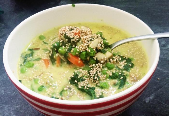 Kokos Spinat Suppe